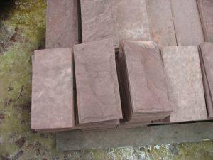 roter sandstein verblender 2 cm